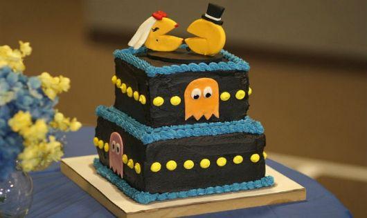 bolo casamento pac man