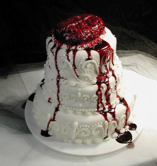 bolo casamento zumbi