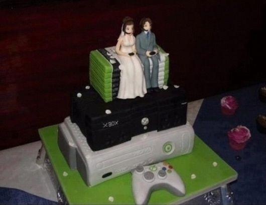 casamento nerd geek bolo gamer