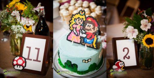 casamento nerd geek decoração