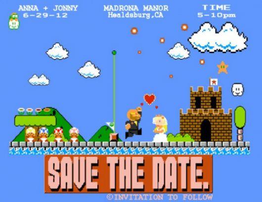 convite casamento nerd
