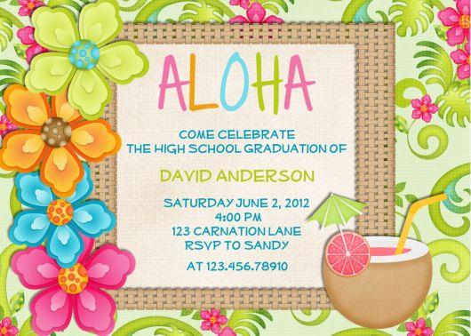 convite festa havaiana