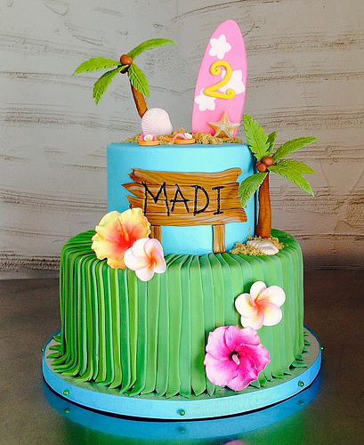 decoração bolo havai