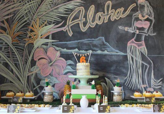 decoração festa havaiana