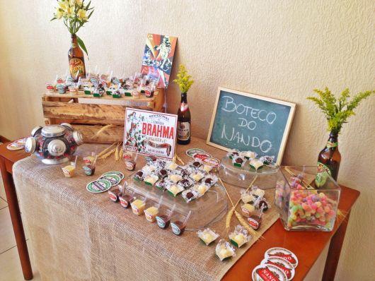 festa boteco simples decoração