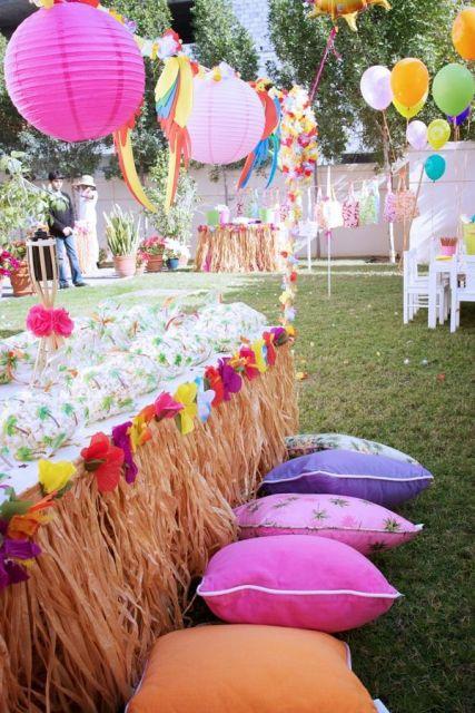 festa havaiana ar livre