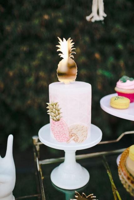 festa havaiana bolo ideias