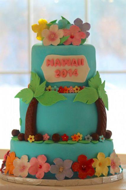 festa havaiana bolo