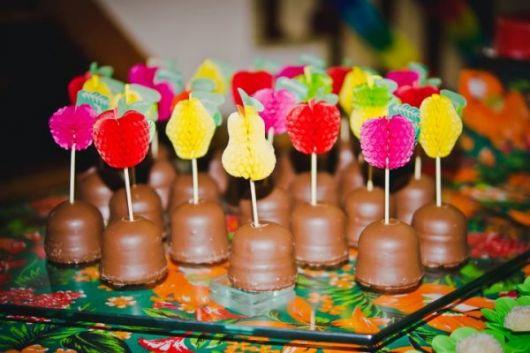 festa havaiana doces