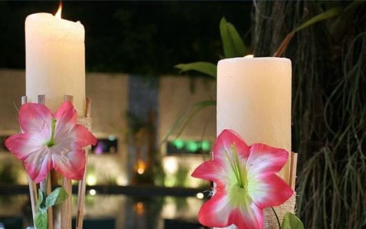festa havaiana iluminação