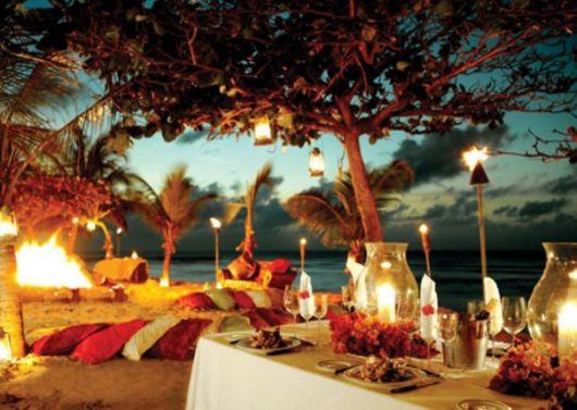 festa havaiana praia iluminação