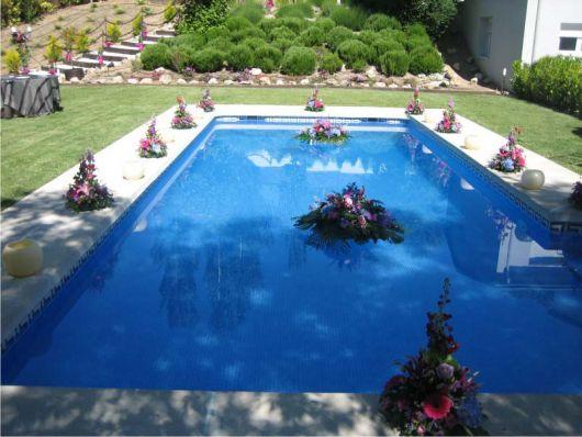 festa na piscina casamento