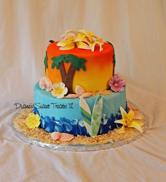 ideia de bolo havai