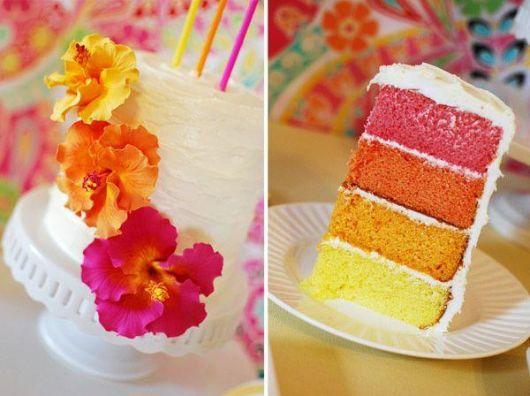 ideia de bolo havaiano