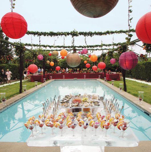 ideias de festa na piscina