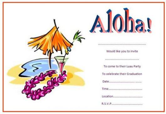 modelo convite festa havaiana