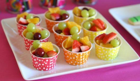 festa criança infantil mesa de frutas