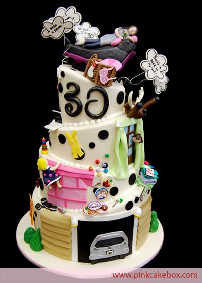 Festa de 30 anos decorao temas e de 50 ideias festa de 30 anos bolo decorado altavistaventures Gallery