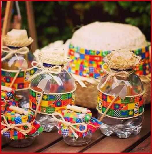 lembrancinhas de festa junina com garrafas de plastico
