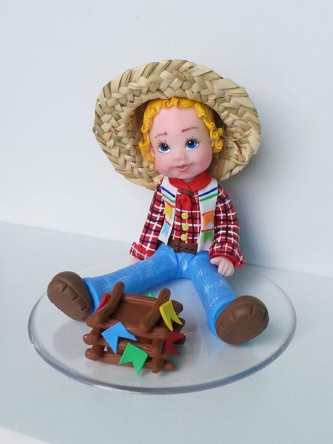 bonecos de biscuit em lembrancinhas de festa junina