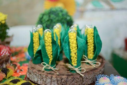 lembrancinhas de festa junina tubete de milho