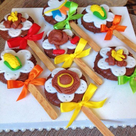 lembrancinhas de festa junina pirulito de chocolate