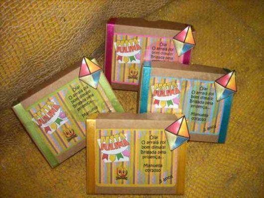 lembrancinhas de festa junina caixinha de papelão