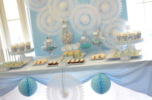 mesa de batismo decoração glamour