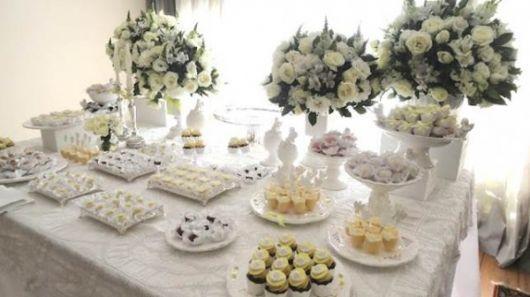 mesa de batismo provençal branca