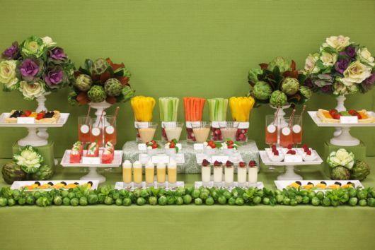 mesa de frutas casamento veggie