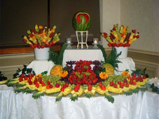 mesa de frutas casamento