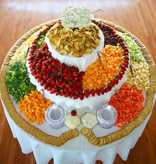 mesa de frutas crianças festa infantil