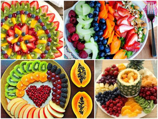 Mesa de frutas como montar modelos 50 fotos for Como secar frutas para decoracion