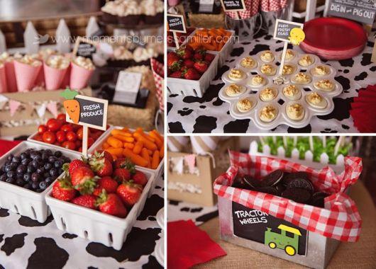 mesa de frutas festa infantil