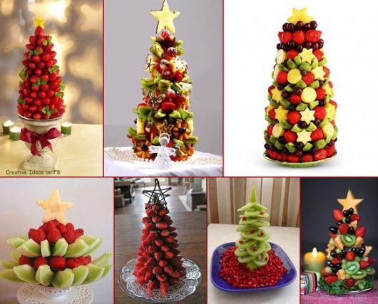 mesa de frutas natal ideias