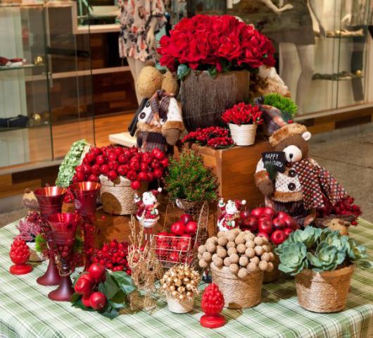 mesa de frutas rustica natal como é