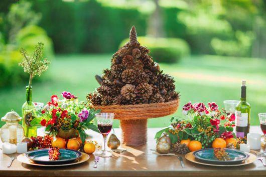 mesa de frutas rustica natal