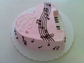 Guitar Ice Cream Cake