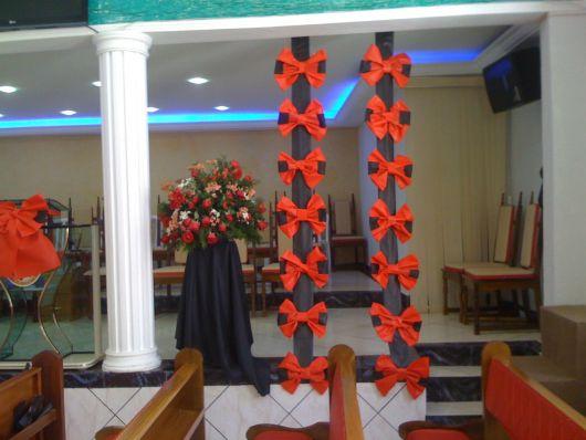 Decoraç u00e3o com TNT para Festas Dicas e + de 70 ideias! -> Como Decorar Igreja Evangelica Para Festividade