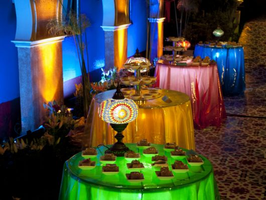 Festa Árabe mesas