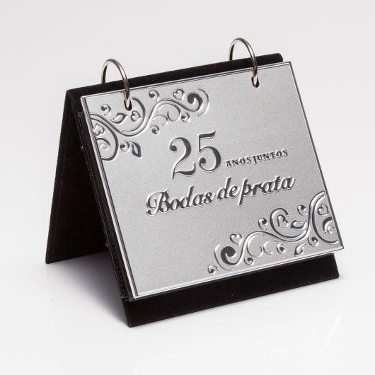 Presente para Bodas de Prata porta retrato