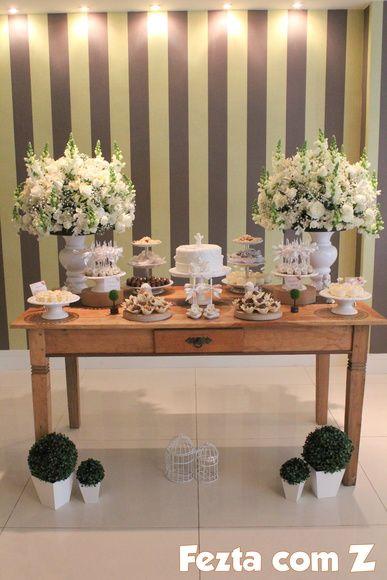 decoração mesa rústica