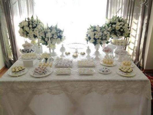 mesa branca simples