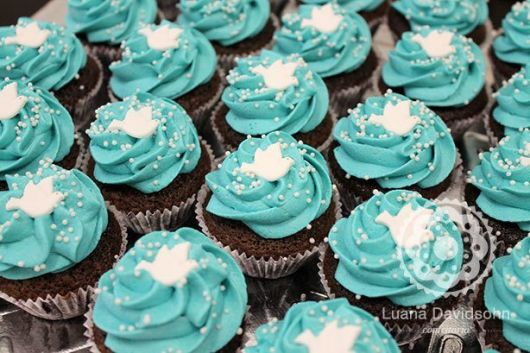 cupcake decorado azul