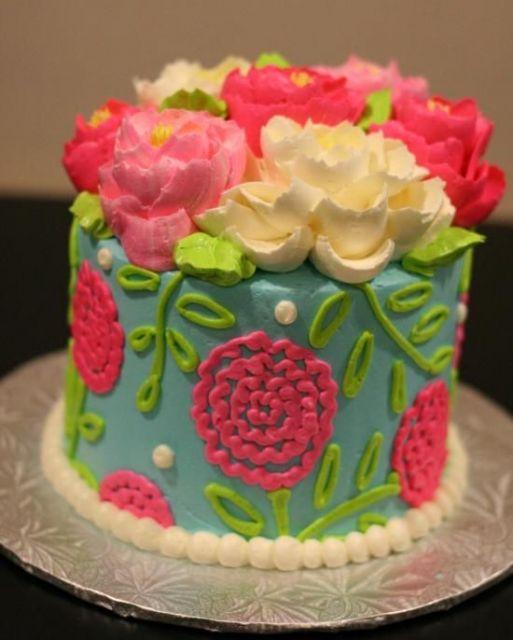 bolo com flores coloridas 4