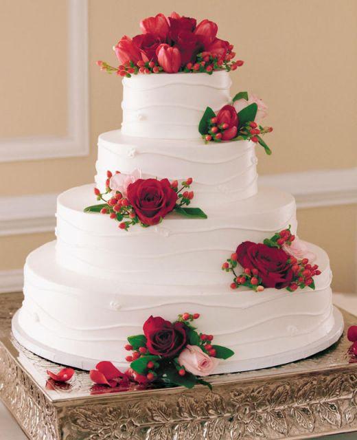 bolo com flores naturais 10