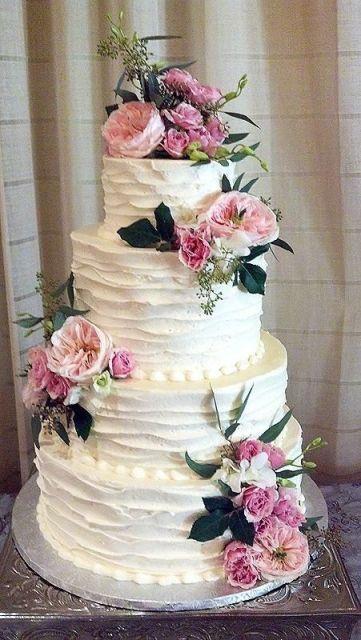 bolo com flores naturais 5