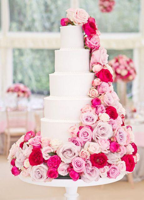 bolo com flores naturais 6
