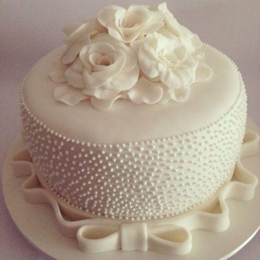 bolo com flores pasta americana 1