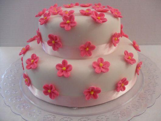 bolo com flores pasta americana 2